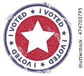 grunge us patriotic stars... | Shutterstock .eps vector #474703795