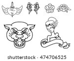 thailand traditional tattoo... | Shutterstock .eps vector #474706525