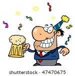 Happy Businessman Celebrating...