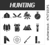 hunting icons set | Shutterstock .eps vector #474710191