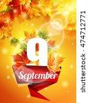 a bright poster on 9 september  ...   Shutterstock .eps vector #474712771