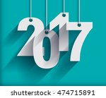 2017 white paper origami card...   Shutterstock .eps vector #474715891