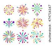 festive firework bursting shape ... | Shutterstock .eps vector #474716167