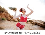 Smiling Beautiful Pinup Girl I...