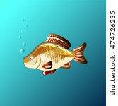 beautiful fish under the water...   Shutterstock .eps vector #474726235