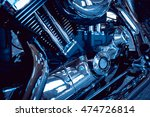close up of engine motorcycle.... | Shutterstock . vector #474726814