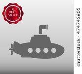 submarine vector icon... | Shutterstock .eps vector #474743605