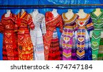 the beautiful hill tribe dress  ... | Shutterstock . vector #474747184