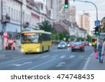 busy city street with yellow... | Shutterstock . vector #474748435