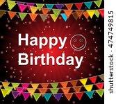 happy birthday vector... | Shutterstock .eps vector #474749815