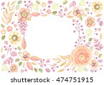 rectangle frame with window of... | Shutterstock .eps vector #474751915