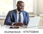 handsome afro american... | Shutterstock . vector #474753844
