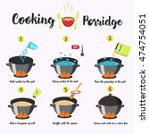cooking instructions. manual... | Shutterstock .eps vector #474754051