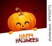 halloween pumpkin head jack... | Shutterstock .eps vector #474763771