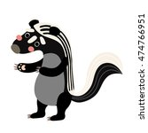 zorilla animal cartoon... | Shutterstock .eps vector #474766951