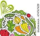 organic food. vector... | Shutterstock .eps vector #474767659