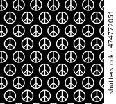 seamless pattern with peace... | Shutterstock .eps vector #474772051