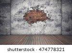 room with old concrete broken... | Shutterstock . vector #474778321