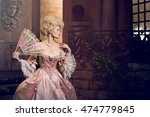 victorian lady. young woman in... | Shutterstock . vector #474779845
