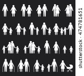 people family icons set | Shutterstock .eps vector #474781651