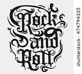 rock n roll grunge print ... | Shutterstock .eps vector #474794335