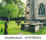 graves near the church | Shutterstock . vector #474798331