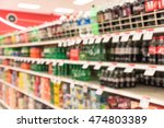 blurred image of soft drinks... | Shutterstock . vector #474803389