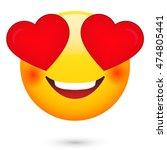 love emoji. emoticon isolated   Shutterstock . vector #474805441