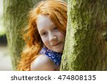 portrait of a young girl with...   Shutterstock . vector #474808135