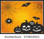 fun and cute cartoon halloween... | Shutterstock .eps vector #474810421