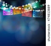 dia de los muertos  mexican day ... | Shutterstock .eps vector #474813889