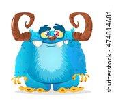 Stock vector happy cartoon monster vector character 474814681