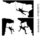 climber in rocks 01 | Shutterstock .eps vector #474815071