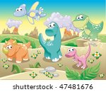 dinosaurs family with... | Shutterstock .eps vector #47481676