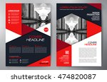 business brochure flyer design... | Shutterstock .eps vector #474820087
