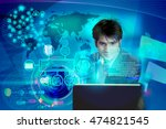 virtual image of a business man ...   Shutterstock . vector #474821545