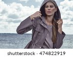 fashion street style look... | Shutterstock . vector #474822919