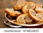 homemade gourmet danish puff...   Shutterstock . vector #474823825