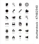 Set Of 21 Web Black Signs