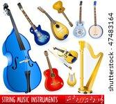 string music instruments... | Shutterstock .eps vector #47483164