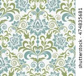 damask seamless floral... | Shutterstock .eps vector #474835681