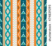 ethnic boho seamless patterns....   Shutterstock .eps vector #474839395