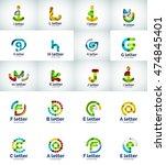 vector set of internet letter... | Shutterstock .eps vector #474845401