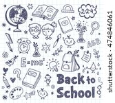 back to school doodle set with... | Shutterstock .eps vector #474846061