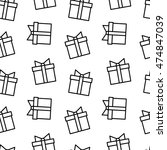 vector seamless pattern with... | Shutterstock .eps vector #474847039