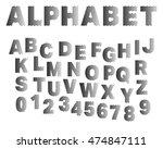 typographic broken alphabet... | Shutterstock .eps vector #474847111