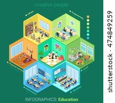 flat isometric school or... | Shutterstock .eps vector #474849259