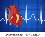 electrocardiogram | Shutterstock .eps vector #47485360