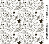 hand drawn space doodle... | Shutterstock .eps vector #474853615