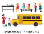 school flat set. isolated on... | Shutterstock .eps vector #474859711